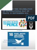 Peace Day Celebration. 2