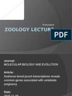 Zoology Lecture Fp