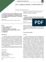 Actualizacion en Analgesia Epidural