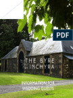 the byre at inchyra - information for wedding guests