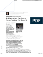 Jeff Bezos and the End of PowerPoint as We Know It