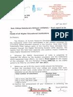 Letter From as (Te) Mhrd Regarding Dms III - Visaka