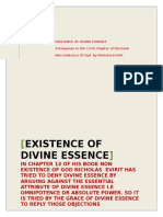 EXISTENCE OF DIVINE ESSENCE
