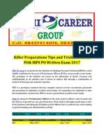 Killer Preparations Tips and Tricks for Bank PO& IBPS PO Written Exam 2017