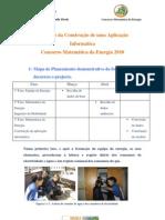 Relatório da Pegada Ecológica- Matemática da Energia