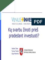 Ka Svarbu Zinoti Pries Pradedant Investuoti LRVPK