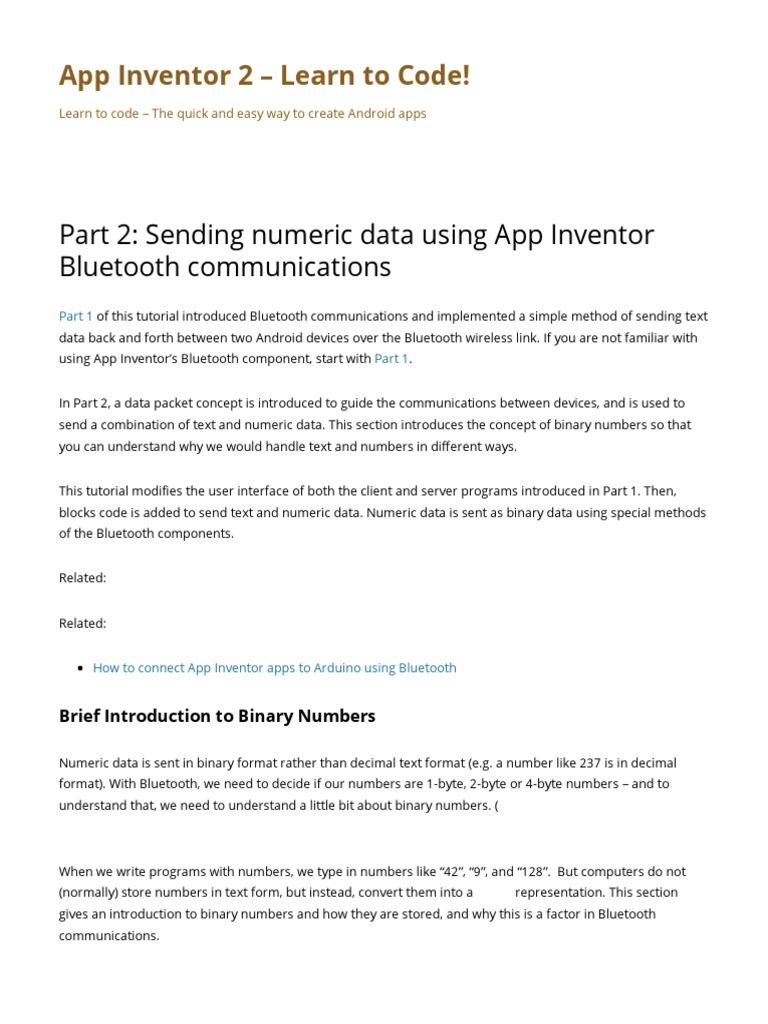 Bluetooth AppInventor 2   Bluetooth   Client–Server Model