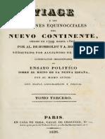 Viaje a Las Regiones Equinocciales Del Nuevo Continente Tomo III_Humboldt