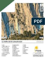 guía escalada de el chorro, sector Escalera Suiza.