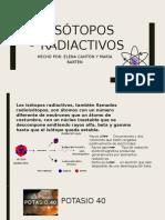 isotopos radiactivos