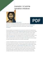 Teologia Icoanelor In Lumina Traditiei Dogmatice Ortodoxe