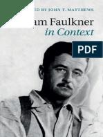 John T. Matthews-William Faulkner in Context-Cambridge University Press (2015)