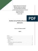 Politicas Economicas y Su Analisis - Trabajo Completo