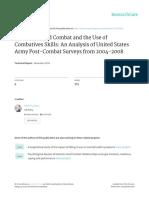 Jensen - H2H and Combatives Skills in Post Combat Surveys - 2014