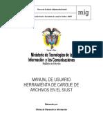 Manual Del Usuario Herramienta de Cargue