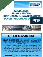 Sosialisasi Ujian Nasional 2015 Smpn Negeri 1 Kawunganten