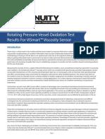 RPVOT Test Results for ViSmart Viscosity Sensor