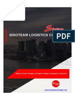 【Brochure】Sinoteam Logistics Co.,Ltd - China