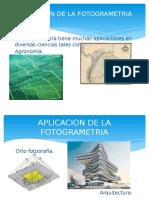 Exposicion Apliccacion de La Fotogrametria