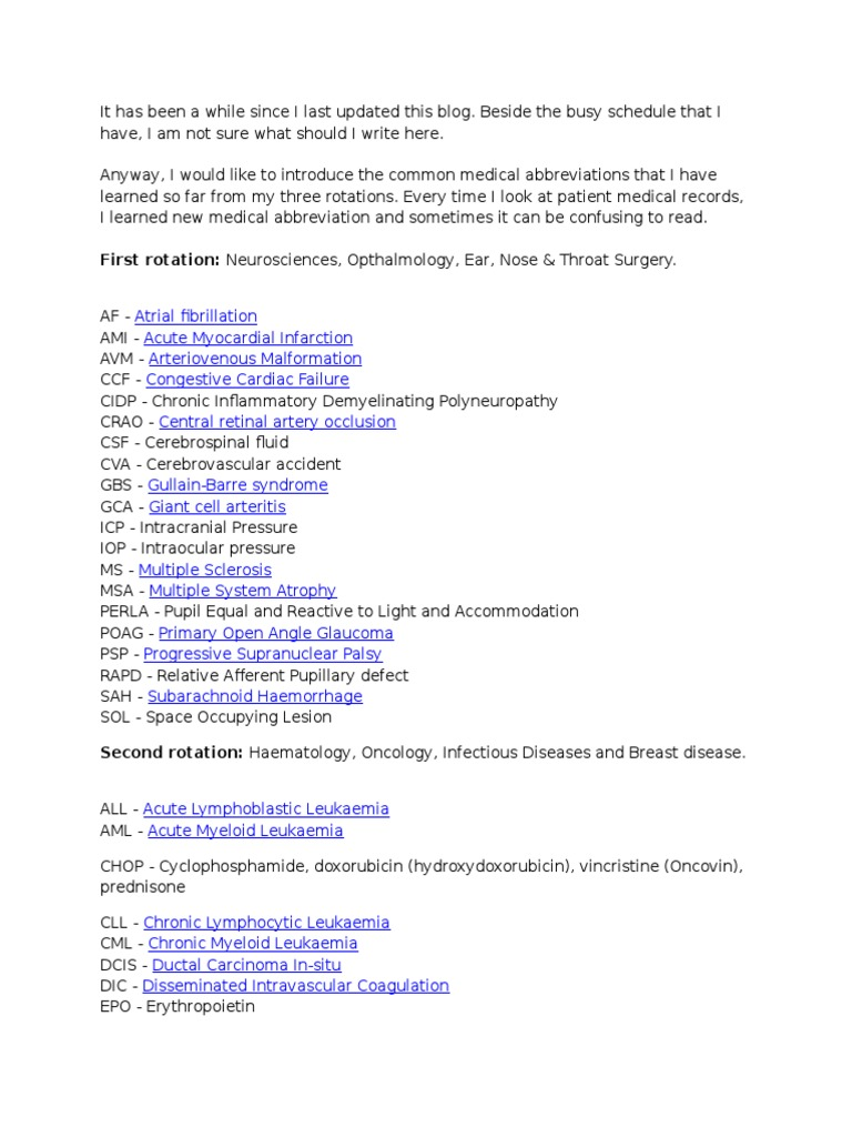 Medical abbreviations hcv - Medical Abbreviations Hcv 36