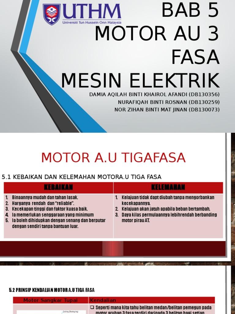 Bab 5 Motor Au 3 Fasa Presentation