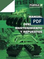 Manual de Operacion y Mantenimiento de Arados y Rastras Livianas