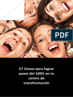 27 Claves Para Lograr Pases Del 100 en Tu Centro de Transformacin