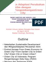 Mitigasi Dan Adaptasi Perubahan Iklim Dengan Strategi Pengem