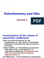 Potentiometry and ISEs Lecture 3