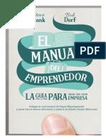 Manual Del Emprendedor:Lean Desarrollo de Clientes