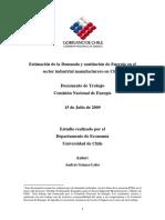 Estimacion de La Demanda y Sustitución de Energía en El Sector Industrial Manufacturero en Chile - ACADEMICO