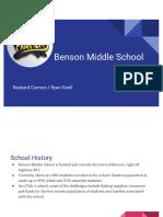 benson middle budget pdf