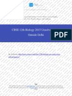 Biology 2015 Unsloved Paper Outside Delhi
