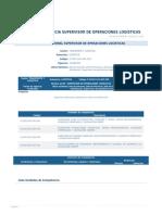Perfil Competencia Supervisor de Operaciones Logisticas