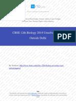 Biology 2014 Unsloved Paper Outside Delhi