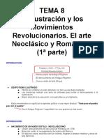 Tema 8 1 La Ilustración y Los Movimientos Revolucionarios. El Arte Neoclásico y Romántico 1ª Parte