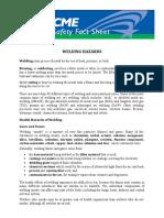 Welding Hazards AFSCME Fact Sheet