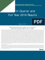 Teva Q4 2016 Earnings Presentation Feb.13.2017_Final