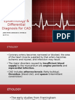 Etiology, Epidemiology & Differential Diagnosis for CAD