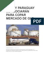 Ypfb y Paraguay Se Asociarán Para Copar Mercado de Glp