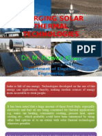 Emerging Solar Thermal Technologies