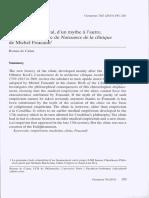 L'empirisme médical, d'un mythe à l'autre. Une lecture critique de Naissance de la clinique de Michel Foucault
