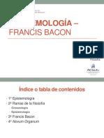 Semana 09 - Epistemología - Bacon (1)
