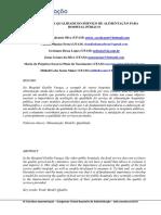525016 - AVALIAÇÃO DA QUALIDADE DO SERVIÇO DE ALIMENTAÇÃO