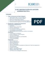 Temario Programa de Certificacion de Gestion Administrativa