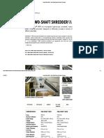 Dual-Shear M55 - Two Shaft Industrial Shear Shredder