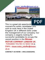 Nissan Jobs Motor