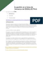 Auditoría de Gestión en El Área de Recursos Humanos de ESSALUD Perú
