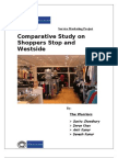 comparitive analysis of Shoppers Stop n Westside