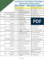 Final BS, MS, PhD Terminal Date Sheet Fall 2015